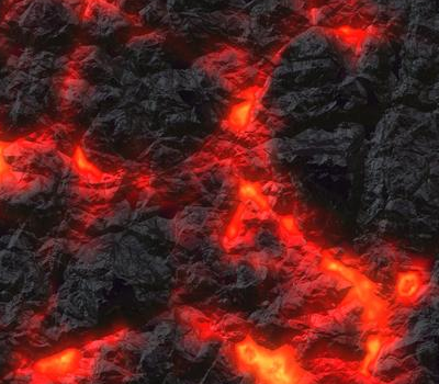 Picture of lava cooling.