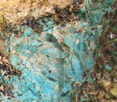 Photograph of an Amazonite mine.
